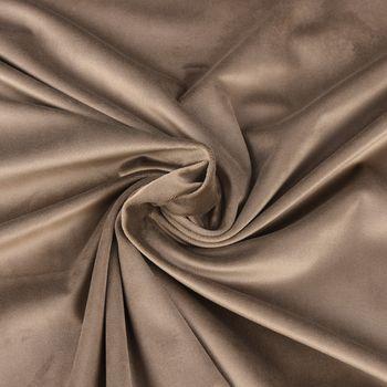 Samtstoff Dekostoff Italian Velvet Samt taupe 1,45cm – Bild 1