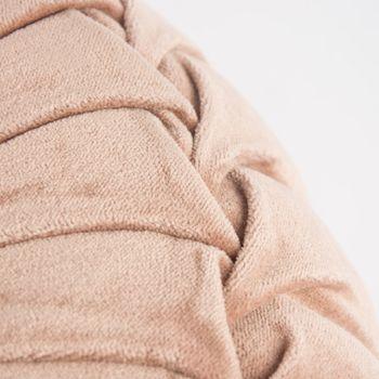 Kissen KANAN Samtkissen rund rosa 40x12cm – Bild 4