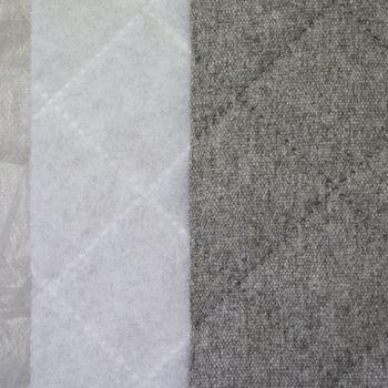 Möbelstoff Polsterstoff Bezugsstoff QUATTRO Filzoptik gesteppt grau 1,40m Breite – Bild 3