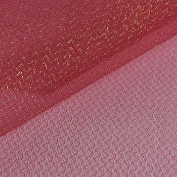 Faschingsstoff Tüll Glitzertüll rot Glitzer 1,5m Breite – Bild 1
