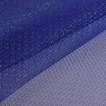 Faschingsstoff Tüll Glitzertüll blau Glitzer 1,5m Breite