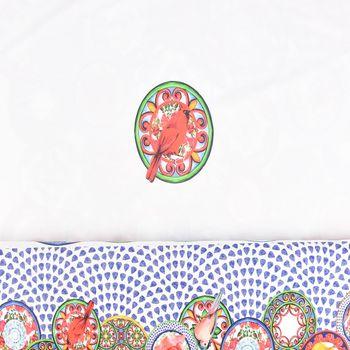 Jersey Stenzo Digitaldruck Paneele Vogel Blume weiß bunt 1,50m Breite – Bild 1