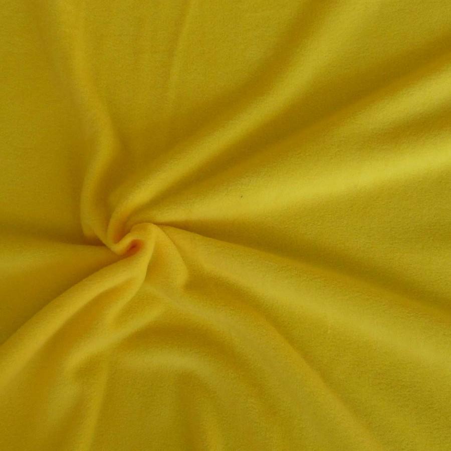 Polar Fleece Stoffe Fleecestoff Antipilling gelb