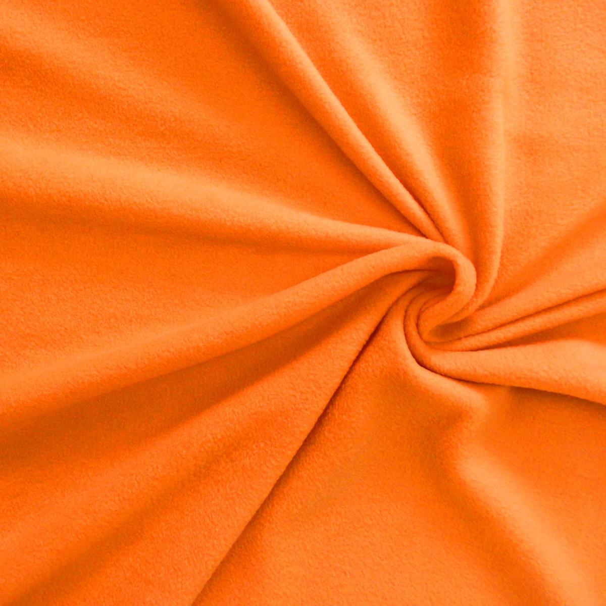 Polar Fleece Stoffe Fleecestoff orange