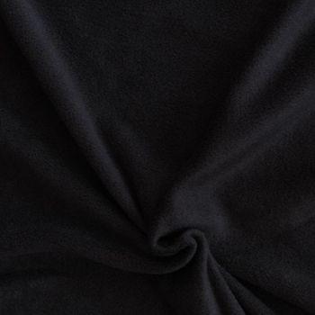 Polar Fleece Stoffe Fleecestoff schwarz