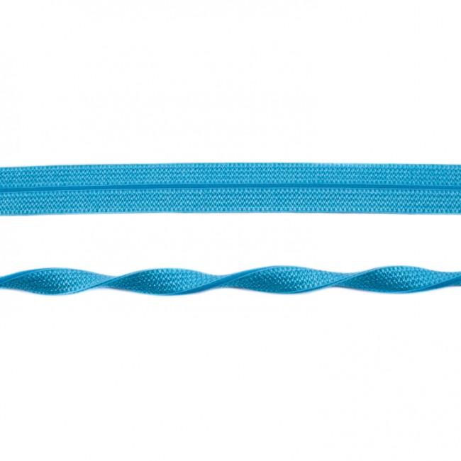 Schrägband elastisch Gummi aqua Breite: 2cm
