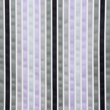 Dekostoff Satinoptik Längsstreifen grau taupe flieder schwarz weiß