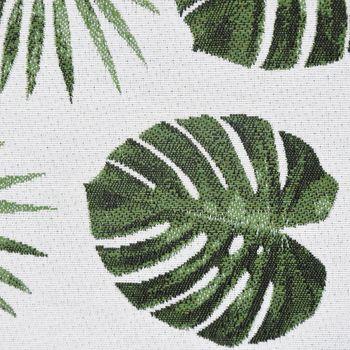 Dekostoff Jacquard-Stoff Palmenblätter grau grün – Bild 2