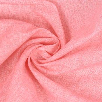 Dekostoff Baumwollstoff Leinenoptik einfarbig rosa – Bild 1