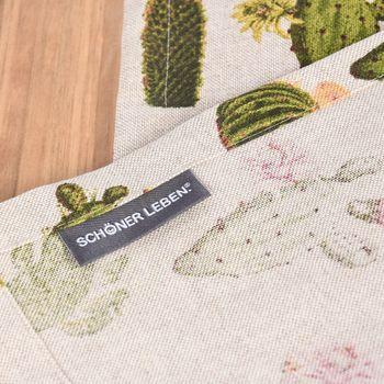 Schöner Leben Tischläufer Kaktus natur grün 40x160cm – Bild 6