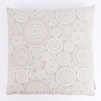 Schöner Leben Kissenhülle Mandala Kreise natur weiß 50x50cm – Bild 1
