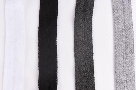 Schrägband elastisch Strick Wollstoffe schwarz Breite: 3cm – Bild 4