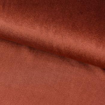 Bekleidungsstoff Samtstoff Stretchsamt einfarbig terrakotta 1,5m Breite – Bild 2