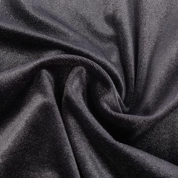 Bekleidungsstoff Samtstoff Stretchsamt einfarbig dunkelgrau 1,5m Breite – Bild 1