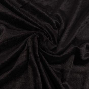 Bekleidungsstoff Samtstoff Stretchsamt einfarbig schwarz 1,5m Breite – Bild 1