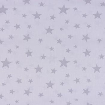 Dekostoff Gardinenstoff raumhoch Sterne weiß grau 2,80m Höhe – Bild 1