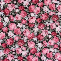Baumwollstoff Rosen schwarz pink blau grün 1,45m Breite