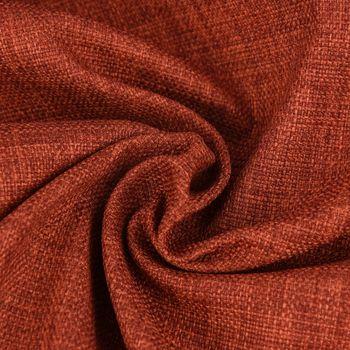 Bezugsstoff Möbelstoff Polsterstoff Brooks terrakotta 1,4m Breite – Bild 1
