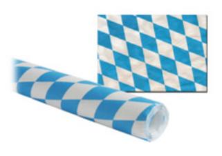 Damasttischtuch auf Rolle blau-weiß Karo Papier 8mx1m 45g/m²