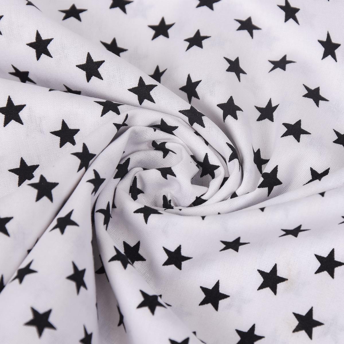 baumwollstoff sterne wei schwarz stoffe stoffe gemustert stoff sterne. Black Bedroom Furniture Sets. Home Design Ideas