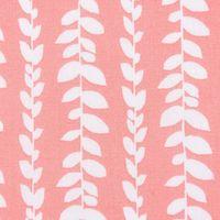Baumwollstoff Blätter Ranke koralle weiß 1,5m Breite