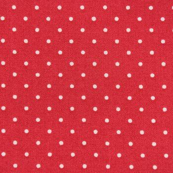 Baumwollstoff Trachtenstoff Punkte rot beige Ø1mm 1,4m Breite – Bild 2