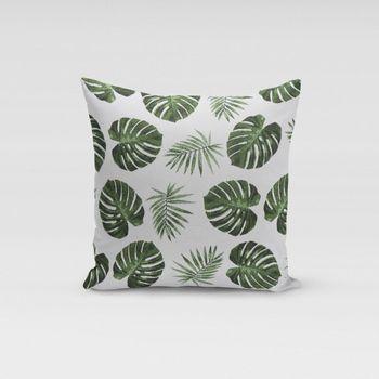 Schöner Leben Kissenhülle Palmenblätter grün 50x50cm – Bild 1