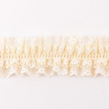 Spitzenband Gummiband Spitze elastisch creme Breite: 4cm
