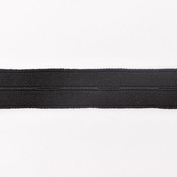 Lochgummi Gummiband mit Knopflöchern schwarz Breite: 2cm
