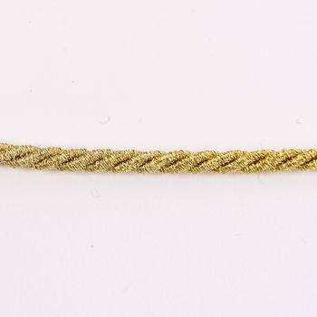 Kordel Zierband goldfarbig dunkel Glitzer Breite: 0,3cm – Bild 1
