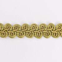 Zierband Wellen grün Breite: 1,5cm 001