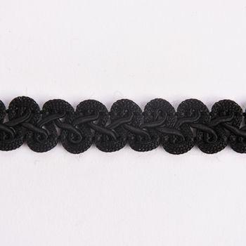 Zierband Wellen schwarz Breite: 1,5cm – Bild 1