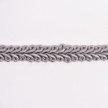 Zierband Ranken geschwungen grau Breite: 1cm – Bild 1