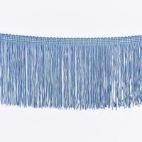 Fransenband Meterware blau Breite: 10cm