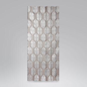 SCHÖNER LEBEN. Vorhang Vorhangschal mit Smok-Schlaufenband Adagio Ornament Metallicprint 245cm oder Wunschlänge – Bild 1