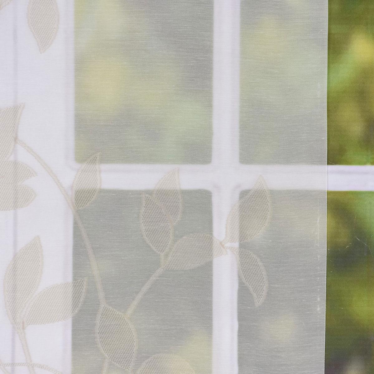 gardine paneele schiebevorhang ecru mit bl tterranken beige 60cm breite alle stoffe stoffe. Black Bedroom Furniture Sets. Home Design Ideas