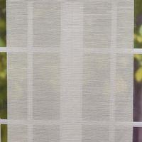 Gardine Paneele Schiebevorhang dünne Querstreifen grau beige 60cm Breite