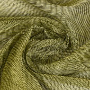Gardinenstoff Meterware LIGNEO Stores Metalliclook grün grau Fadenstruktur längs halbtransparent 3,06m Breite  – Bild 1