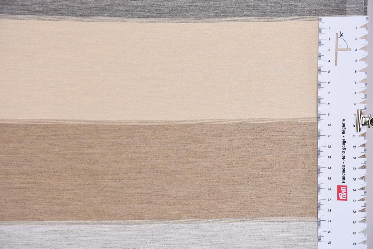 dekostoff gardinenstoff querstreifen blickdicht grau braun. Black Bedroom Furniture Sets. Home Design Ideas