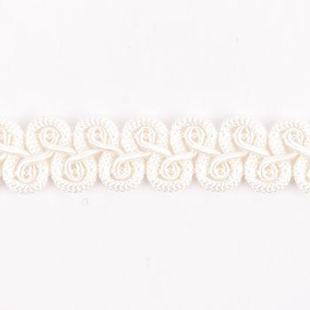 Zierband Wellen creme Breite: 1,5cm – Bild 1
