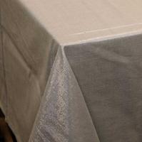 Tischdecke Glamour grau silberfarbig Lurex 150x300cm