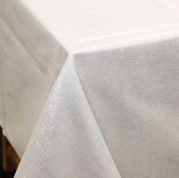 Tischdecke Glamour weiß silberfarbig Lurex 150x300cm – Bild 5
