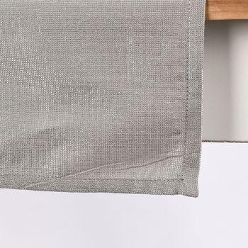 Tischläufer Glamour grau silberfarbig Lurex 45x150cm – Bild 1