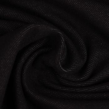 Baumwoll-Jeansstoff mit Elasthan Stretchjeans-Stoff weich einfarbig schwarz 1,5m Breite – Bild 1