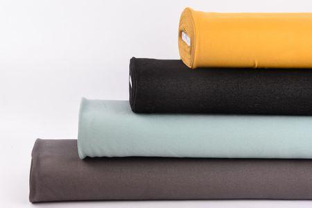 Baumwoll-Jeansstoff mit Elasthan Stretchjeans-Stoff weich einfarbig schwarz 1,5m Breite – Bild 7