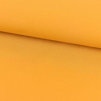 Baumwoll-Jeansstoff mit Elasthan Stretchjeans-Stoff weich einfarbig ocker gelb 1,5m Breite – Bild 1