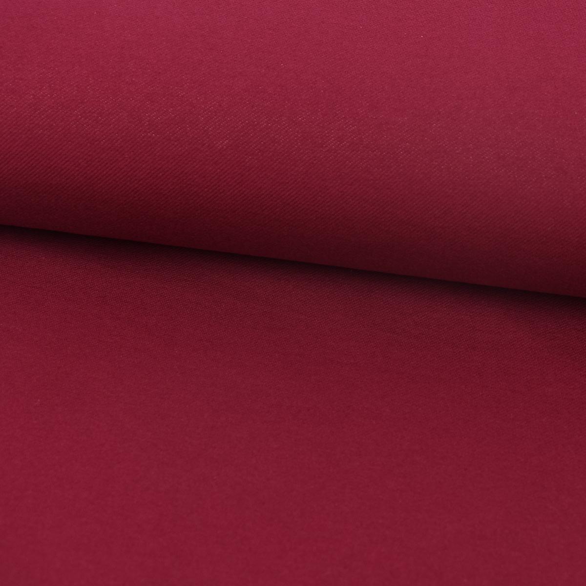 Baumwoll-Jeansstoff mit Elasthan Stretchjeans-Stoff weich einfarbig weinrot 1,5m Breite