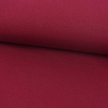 Baumwoll-Jeansstoff mit Elasthan Stretchjeans-Stoff weich einfarbig weinrot 1,5m Breite – Bild 1