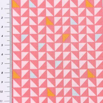 Baumwollstoff Pretty Triangles Dreiecke rosa bunt 1,5m Breite – Bild 1