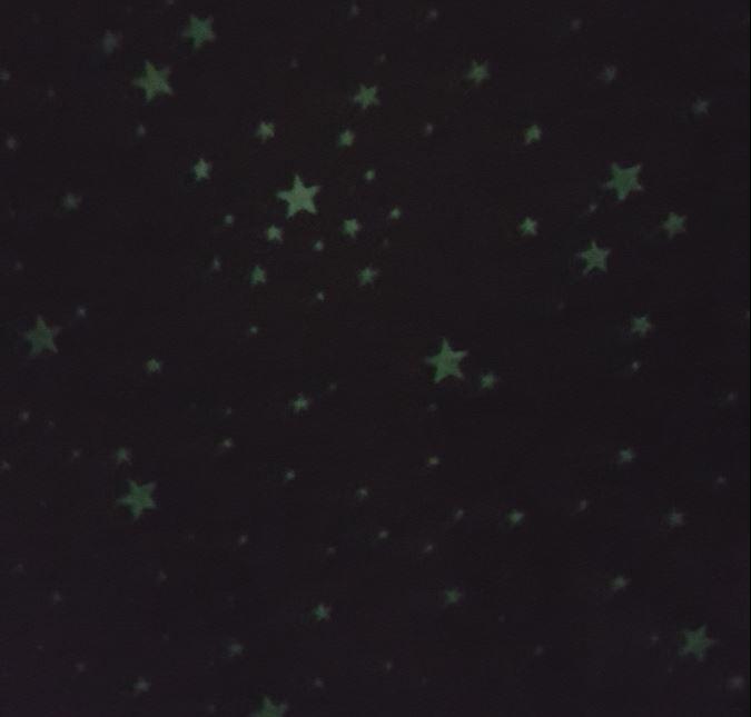 jersey stoff sterne glow in the dark leuchtet im dunkeln. Black Bedroom Furniture Sets. Home Design Ideas